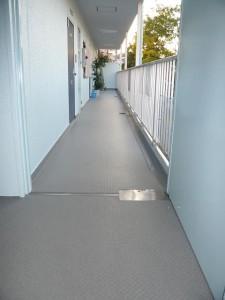 共用廊下の清掃状況